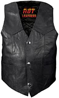 Hot Leathers Youth Classic Biker Vest (Black, X-Large)