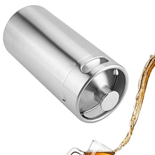 Ölfat mini kag-stil odlare rostfritt stål öltillbehör håller öl dubbla handtag för hemcamping picknick (3,6 L)