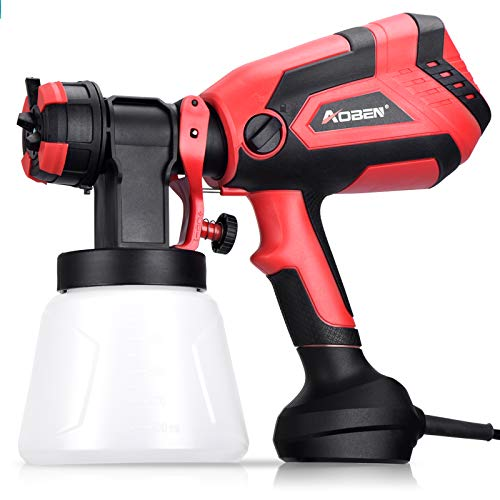 AOBEN Paint Sprayer, 750W Hvlp Spray Gun, Electric Paint Gun with 4 Nozzles, 1000ml Container for Home and Outdoors, Painting Projects.