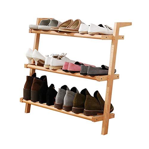 ZZYE Zapatero Zapato Rack Confiable Sólido Madera Estante de pie Almacenamiento 3 Niveles de Sala de Estar Organizador Simple Hallway Perchero Zapatero