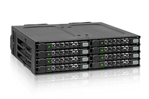ICY DOCK ToughArmor MB998IP-B - 8X 2,5 Zoll (6,4cm) SAS/SATA SSD/HDD SFF-8643 MiniSAS HD Wechselrahmen in 1x 5,25 Zoll (13,3cm) - Vollmetall