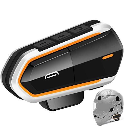 Baile Motorcycle Wireless Headset,1000M Helmet Wireless Communication Systems Ski Helmet Headphones bt Intercom Walkie-Talkie for Snow Mobile,Up to 3 Riders (Handsfree,FM Radio, Waterproof)