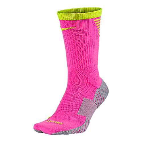 Nike Stadium Foot- Ball Crew - Socken Unisex, Rosa (pink Blast/Volt/Volt), S