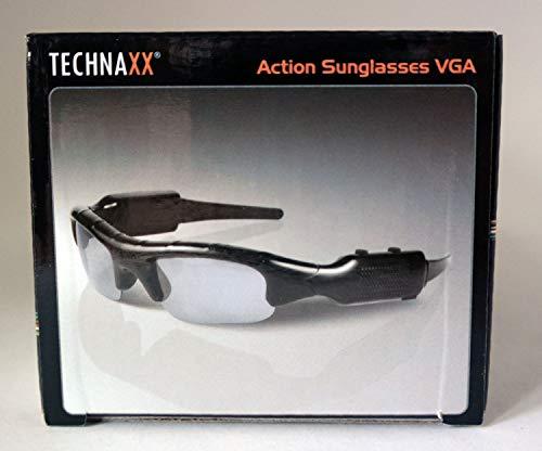 Technaxx Action zonnebril met camera voor video-opnames en foto's (microSD-kaartsleuf, ingebouwde microfoon) zwart