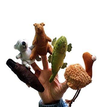 TOOGOO(R)) Fuenf Australien Einzigartige Tiere Fingerpuppen