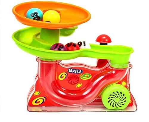 Premium Kugelbahn Happy Ball - Rolling Ball Lernspiel Lernspielzeug Bälle Springbrunnen Spiel Kugel Bahn Familienspiel Ballspiel für Baby & Kinder Marke HUKITECH