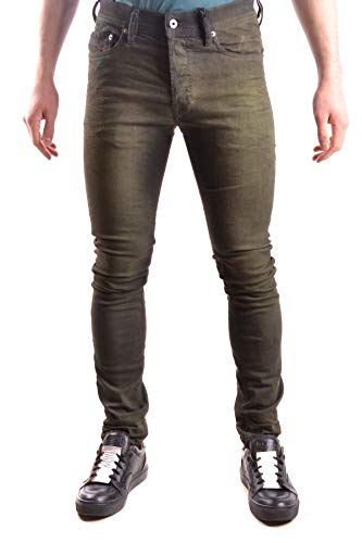 Luxury Fashion | Diesel Heren MCBI28933 Groen Katoen Jeans | Seizoen Outlet