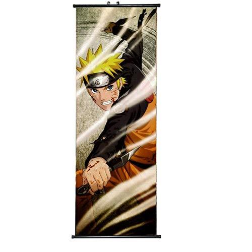 ALTcompluser Anime Naruto Rollbild/Kakemono Wallscroll Dekorative Wandbild Stoff Poster Hängendes Plakat, Wand Zimmer Deko(Uzumaki Naruto)