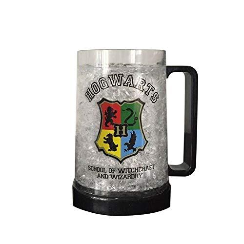 Silver Buffalo Hogwarts School of Witchcraft Plastic Stein Freeze Gel Mug, 16-Ounce, Multicolored