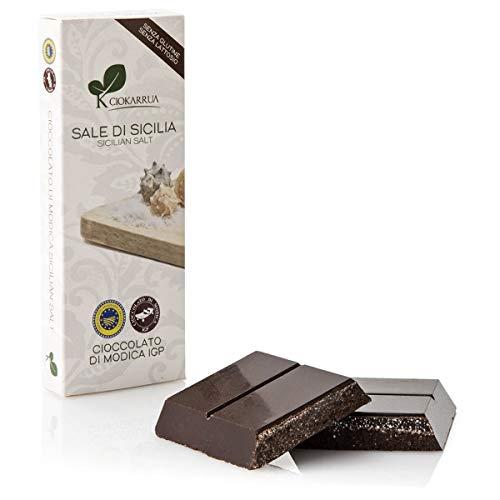 チョカッルーア モディカ チョコレート 塩/ソルト (100g) [イタリア シチリア] | CIOKARRUA MODICA CHOCOLATE IGP | ギフト プレゼント カカオ50% ヴィーガン 板チョコ スイーツ ポリフェノール
