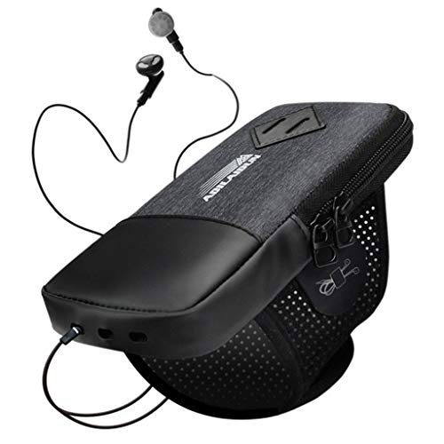 "6-Zoll-Sport-Handy-Tasche Jack Multi-Funktions-wasserdichte Armbag Large Capacity Armband (Color : Black, Size : 4-6\"")"