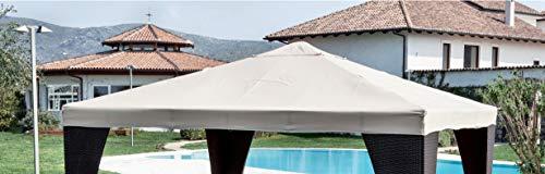 Giardini del Re Telo di Ricambio per Gazebo, Bianco, 300x300x2 cm