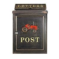 ポスト 置き型 スタンド 鍵付き 鋳物 郵便受け 置き型ポスト 鍵付 スタンドポスト 高さ118 おしゃれ アメリカン アンティーク スタンド付き 郵便ポスト 北欧 (レッドトラクター)