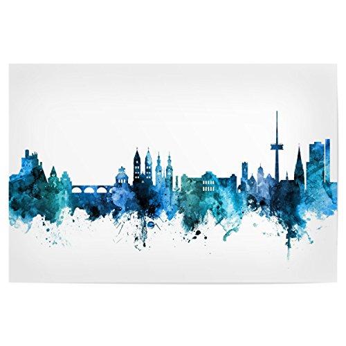 artboxONE Poster 90x60 cm Städte Koblenz Germany Skyline Blue - Bild Koblenz Koblenz Skyline Skyline