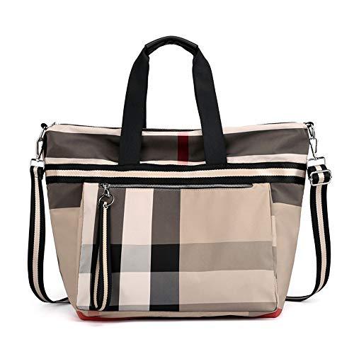 LUUT Classic Kariert Umhängetasche Canvas Damen Messenger Bag Schick Patchwork Handtasche Lässig Shopper Handtaschen