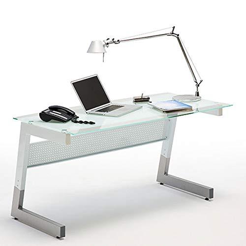 Robas Lund, Schreibtisch, Computertisch, BIG-M, Glas/Metall/weiß, 80 x 150 x 78 cm,  41502XW1