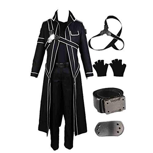 COSPARKY Anime Sword Art Online Kirigaya Kazuto Costume Cosplay Costume di Halloween Robe Coat per Donna Uomo Set Completo