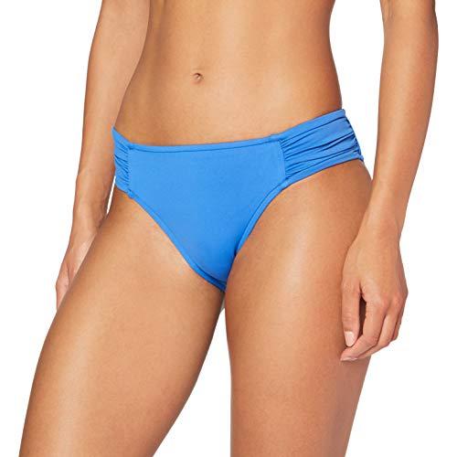 Seafolly Damen Ruched Side Retro Bikini-Unterteile, Mediterranean Blue, 38