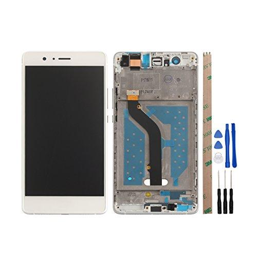 HYYT LCD Display+Touchscreen Digitizer+Rahmen für Huawei P9 lite (2016) mit Frei Werkzeuge (Weiß)
