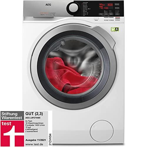 AEG L8FE74485 Waschmaschine / ProSteam - Auffrischfunktion / ÖKOMix - Faserschutz / 8,0 kg / Leise / Mengenautomatik / Nachlegefunktion / Kindersicherung / Schontrommel / Allergikerfreundlich