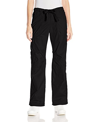 KOI Women's Lindsey Ultra Comfortable Cargo Style Scrub Pants Sizes, Black, X-Large/Tall