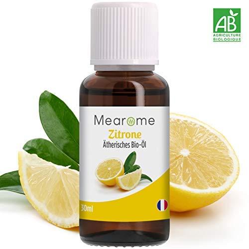 Zitronenöl Ätherisch BIO - 100{e1dbf48fe6ce2ee2254e6d9fde46928a693b2060737dffb8d89df4f85658e01e} naturrein - Zertifiziertes BIO-Produkt - Duft-Öl Zitrone 30ml, Aroma für Diffuser, Aromatherapie Immunsystem stärken mit Vitamin C