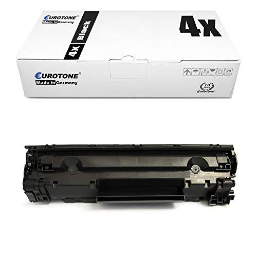 4x Eurotone Cartuccia Toner per Canon I-Sensys LBP 6000 6020 6030 b w sostituisce 3484B002 725
