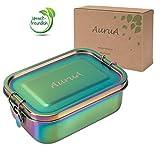 AuruA® Edelstahl Brotdose für Kinder bunt