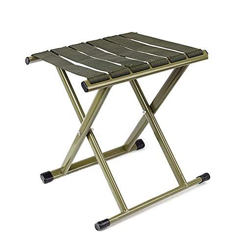 CHENDZ Chaise pliante pliante tabouret Mazar portable mini épaississement extérieur chaise de pêche tabouret banc 29x32x26cm (Color : Green)