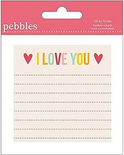 Pebbles Sticky Notes, I Love You (747220)