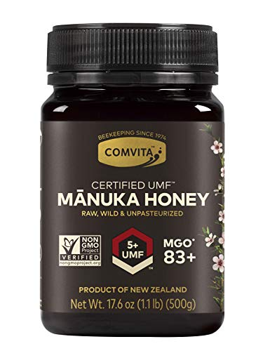 Comvita Certified UMF 5+ (MGO 83+) Raw Manuka Honey I New Zealand's #1 Manuka Brand I Authentic, Wild, Unpasteurized, Non-GMO Superfood for Daily Wellness I 35.2 oz (Best Value)