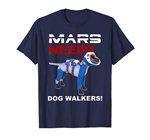 MARS Dog Walker PET Astronaut Gift Sci Fi Space Colony Funny