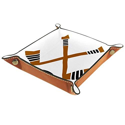 Xingruyun Sport Hockey Aufbewahrungsbox Faltbar Schmucktablett Schmuckschale Schmuckdisplay Halskette Ring Organizer 16x16cm