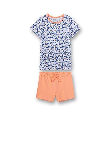 Sanetta Mädchen Pyjama kurz Zweiteiliger Schlafanzug, Blau (blau 5709), (Herstellergröße:104)