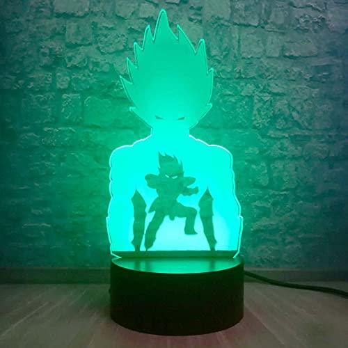 Saiyan Shadow night Light Dragon Ball - Lámpara LED con forma de dragón
