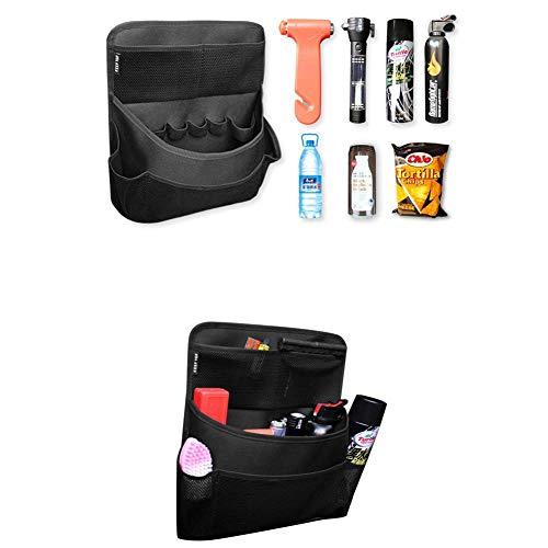 Car Trunk Storage Bag With Multi-Pockets Back Seat Storage Organiser, Car Backseat Organizers Basket Mesh Holder For Suv Van Vehicle Truck