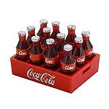 SHTAO Mini Botella de Coca Cola y Bandeja, Accesorio de decoración, Juguetes, Herramientas, muñeca de Juguete en Miniatura, Bebida, Cocina para 1/10 RC Crawler D90 Axial SCX10