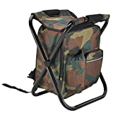 DZSF Outdoor Folding Camping Fishing Chair Stool Portable Backpack Seat Bag Folding Fishing