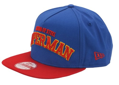 New Era Herren Snapback Cap Character Arch Superman 9Fifty blau blau M/L
