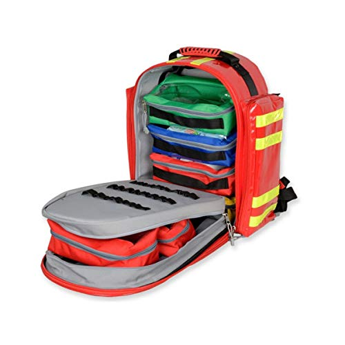 Gima 27172 - Logic 2 Rusksack, Backpack, Polyester PVC coated, Red Colour, Large Size, Dimensions 40x25x47 cm, for Rescuers, Trauma Doctors, Paramedics, First Aid and Civil Protection Professionals