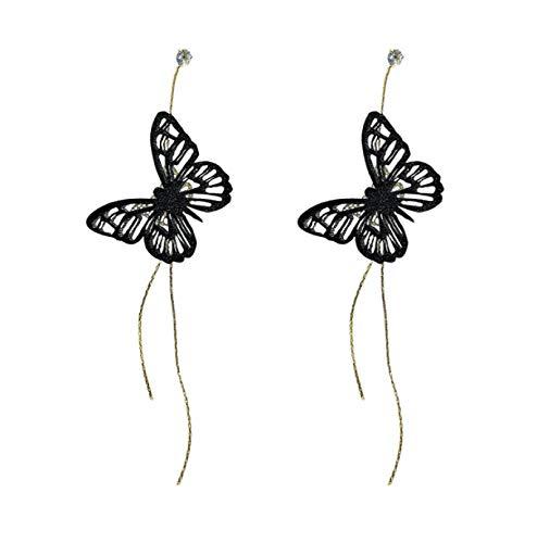 RR-CZY Chinese Style Butterfly Long Tassel Earrings Female 13.6Cm