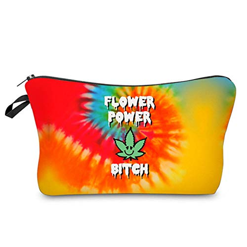 Rainbow Cosmetic Makeup Bag Tie Dye Pouch Stash Storage Accessories Gifts For Women
