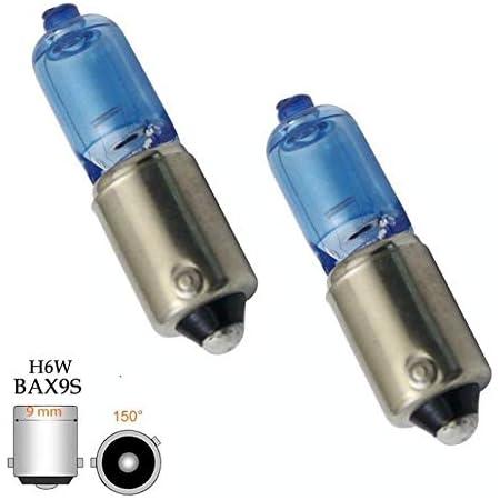 2x St Super White H6w Bax9s 12v 6watt Glühbirnen Halogen Lampen 9mm Metall Bajonettsockel Standlichtlampen Hallenwerk Auto