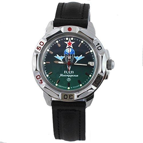 Vostok Komandirskie Russische Militär-Uhr 431021 / 2414a Grün