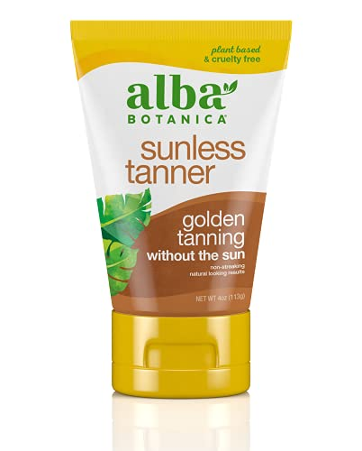 Alba Botanica Sunless Tanner Lotion, 4 Oz
