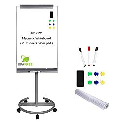 Best Classroom Easel Review - Magnetic Mobile Standing Whiteboard with Flipchart Easel