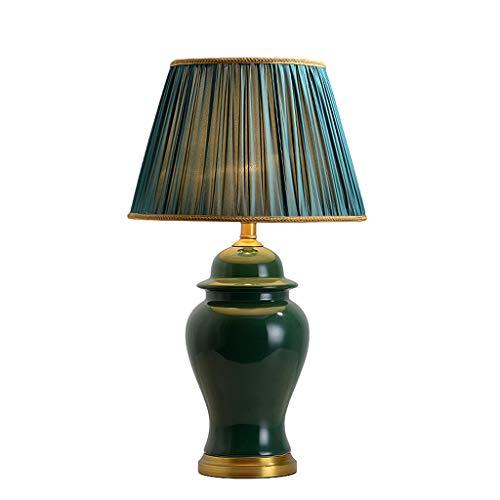 Lampe de table lumineuse en céramique - TD643 Table basse de salon de style américain 68cm Bureau d'étude Chambre Lampe de chevet