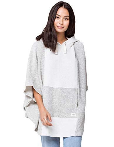 Roxy Womens Summer Surf - Oversized Poncho Hoodie - Women - M - White Snow White M/L