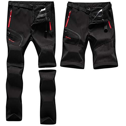 ZOEREA Pantalones Aire Libre de Hombre Convertible Pantalones Cortos Trekking Montaña Escalada...