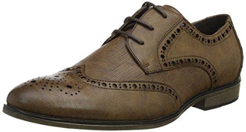 New Look PU Formal, Zapatos de Cordones Brogue Hombre, Marrón (Dark Brown 27), 42